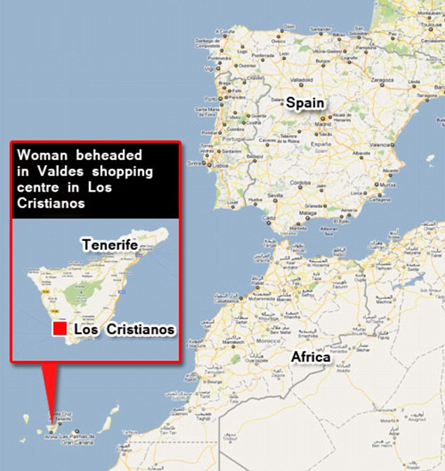 Heated: Tenerife is in the Canary Islands, located west of Africa and south of Spain. The woman was killed in southern Tenerife