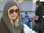 """EXCLUSIVE: Kate Hudson spotted enjoying the snow on a wintery day in NYC. Kate spent time making the best of the blizzard conditions in New York City with son Bingham Hawn Bellamy. Creating a stir recently..This week Kate shared a very racy photo with her Instagram followers showing the A Lister laying back in a tub filled with soapy water exposing her rear end while titling the snap """"#JustAnotherDayAtTheOffice""""\\nPlease byline:TheImageDirect.com\\n*EXCLUSIVE PLEASE EMAIL sales@theimagedirect.com FOR FEES BEFORE USE"""