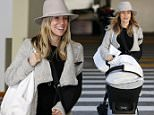EXCLUSIVE: **PREMIUM EXCLUSIVE RATES APPLY**Kristin Cavallari is all smiles at LAX despite recent car crash leaving her with a dislocated elbow. The former reality TV star had her left arm in a sling as she landed in LA with baby daughter Saylor James in a stroller just days after the accident.\n\nPictured: Kristin Cavallari\nRef: SPL1214270  250116   EXCLUSIVE\nPicture by: Toby Canham / Splash News\n\nSplash News and Pictures\nLos Angeles: 310-821-2666\nNew York: 212-619-2666\nLondon: 870-934-2666\nphotodesk@splashnews.com\n