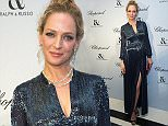 PARIS, FRANCE - JANUARY 25: Uma Thurman attends the Ralph & Russo and Chopard dinner during part of Paris Fashion Week on January 25, 2016 in Paris, France.  (Photo by Samir Hussein/WireImage)