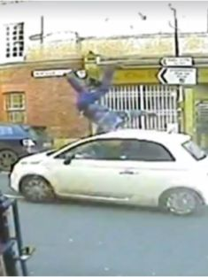 Police release brutal footage of hit and run to try and track down driver