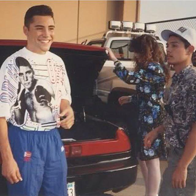 #TBT 1993 Oscar De LaHoya #SchurrHighSchool parking lot #Montebello #SouthernCalifas #HondaNSX