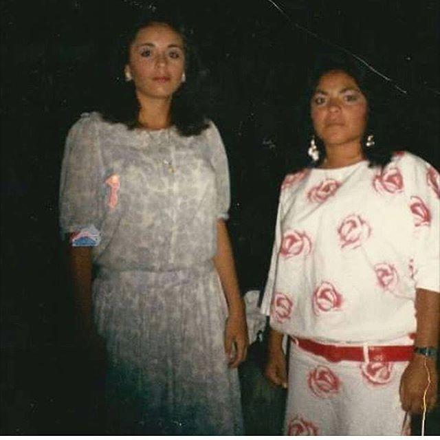 LA GOLDIE AND LIL VIVECA #VENICE13 CIRCA 1980s gracias @bluntedceejayy 💋