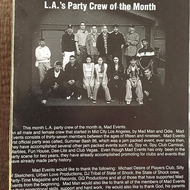 Here's a lil piece of history #LAPARTYCREWS #FunHouse #ClubCarnival #babydoes #PurpleShield #90s #SweetSundays #GroovySundays #FryForFive
