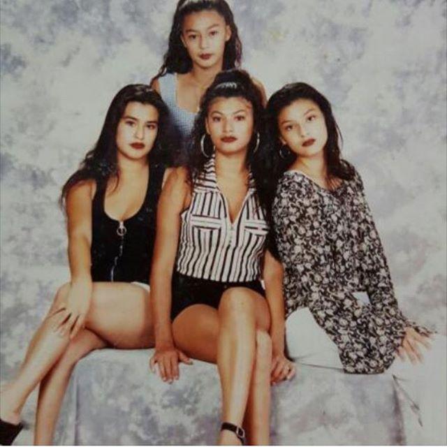 Nancy, Kim, Brandy and Michelle. 1994 (photo: @nancy_the_raad )