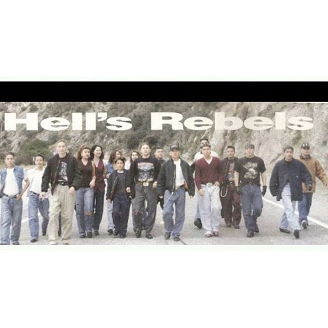 ~Hell's Rebels~ ROLL CALL Mousie, Drifter, Gilligan, Nutts, Monster, Fingers, Kid, Indio, Bones, Porno, Cisco. #SGV 92/93 #90s #partyCrews #StreetBeatMag #southernCalifornia Azusa Canyons  @i_be_chrisdogg