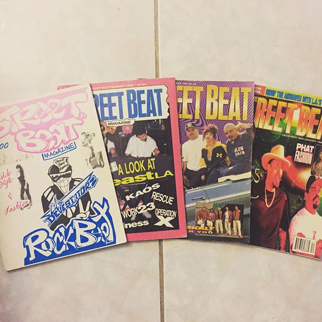 These four arrived today! Happy to say that I finally completed my #StreetBeatMag Collection 🍻 #SouthernCali #LAPartyCrews