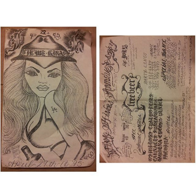 Art work on flier done by Kim Cifuentes.  Party Crew : Firme Hynas. 1995