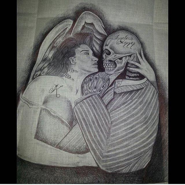 🎭 ~Hopeless Sinner~ 🎭 #PintaArte #BallpointpenArte #PrisonArt @_Loriannaaa_