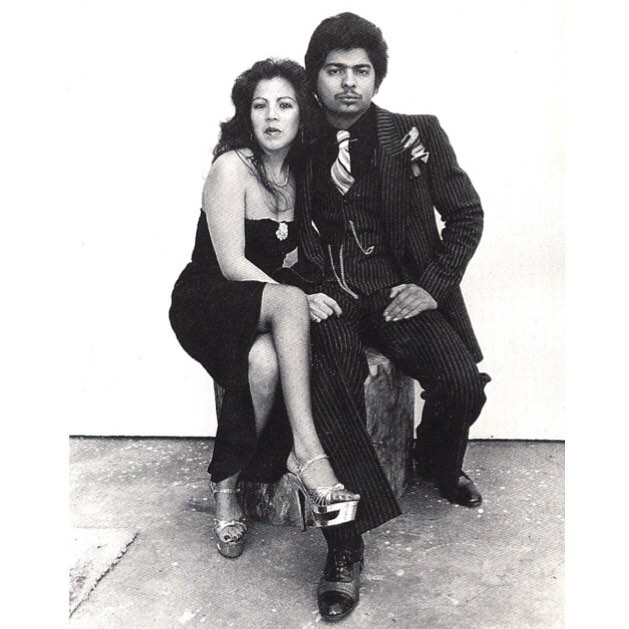 Lowrider Couple (photo by Joe Ramos)  #California #LowriderCarClubs #70s