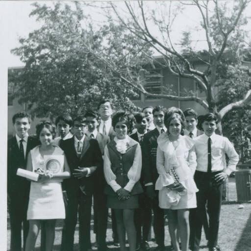 Graduating class at #StevensonJuniorHigh, #BoyleHeights, #California 1968