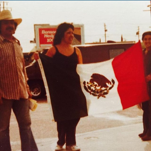 #Lawndale  #TinyLoca #HarborArea  protesting with MEChA 1978. Walked from El Camino college to #SouthCentral ✊ @osoxloko