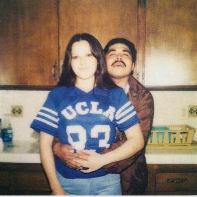 Huera & Porky repping that UCLA Bruins Blue. 1980 varrio Artesia 13 (photo: @sadieann4 )
