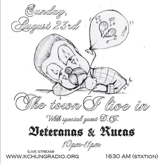 ~The Town I Live In~ Tune in this Sunday August 23rd for some late night oldies. I'll be @kchungradio and @mariconcollective special guest and will be playing some of my all time favorite oldies. Catch you all this Sunday ! (More info on flyer) 🎭📻🙏