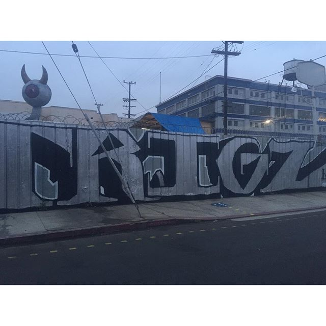 Out here at 6am and came across the homie's name #RIPTRIGZ #MSK #LosAngeles