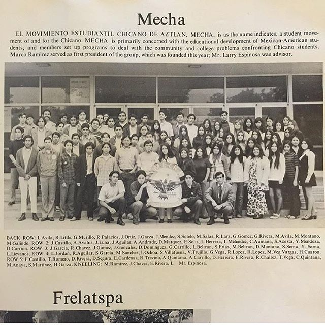 #MECHA #SantaAnaHigh yearbook 1971 @jessicaalvarado92 gracias to you and your jefa #SouthernCali