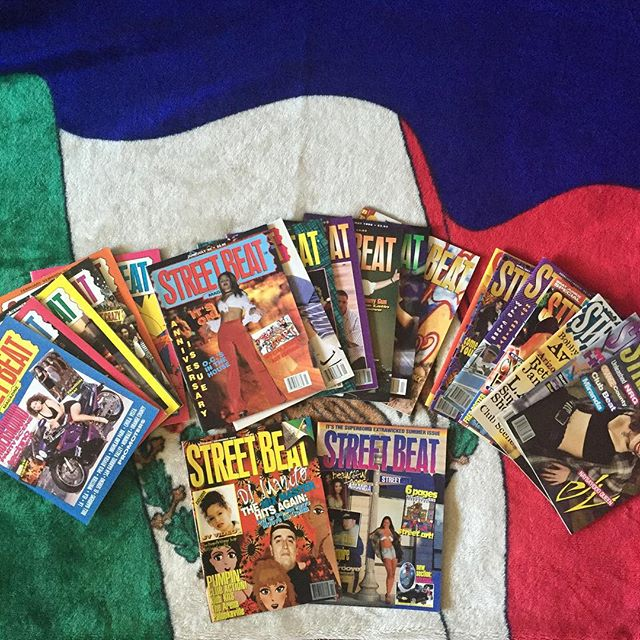 "Morning #RazaRave just got my hands on these fresh out the box 22 issues #StreetBeatMagazine for an upcoming project. STAY TUNED ! Or HMU if you're curious and want to know what's brewing 😉 AND/OR wanna be part of it. Thanks street beat and thank YOU, RAZA 🙏 #90sPartyCrews ~~~~~~~~~~~~~~~ ""Preserving OUR History"""
