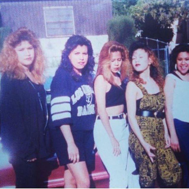 La prima Grumpy, homie Vanessa, lil Flaca(#CPT) , prima coneja n homie Gloria 1990 #LosAngeles #Califas