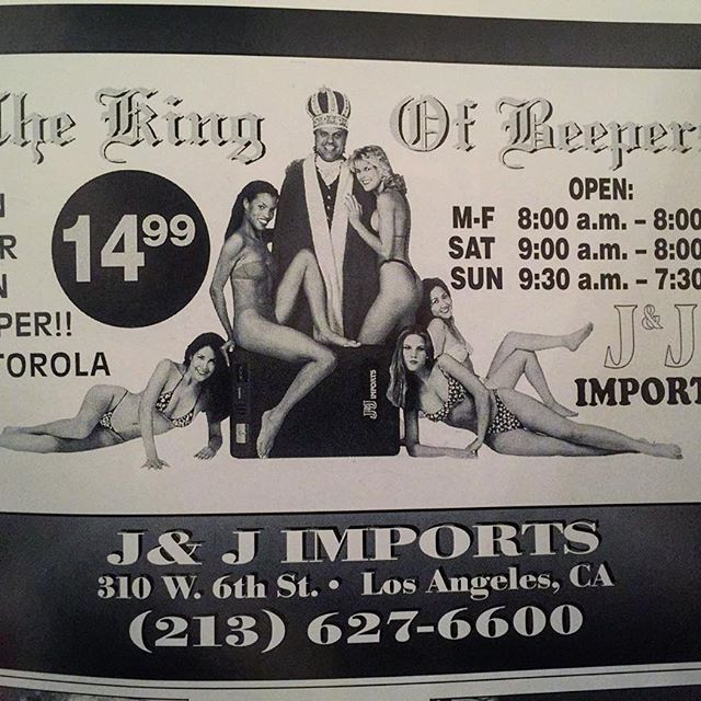 The King Of Beepers ad 1995 #StreetBeatMagazine #Throwback Who remembers?