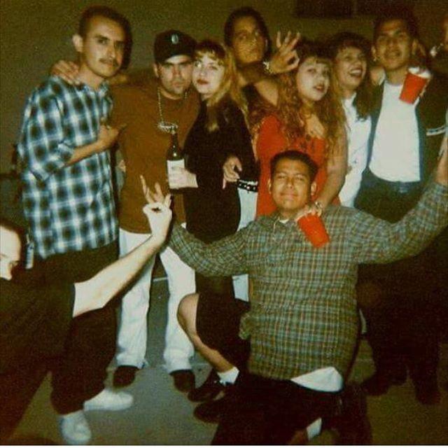 1990 18th birthday party. The DOGZ party crew. Inland Empire (photo: @ipartoutchevys )