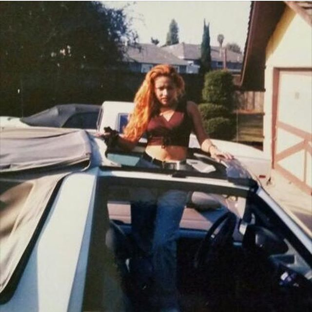 1997 When she bought her 1st ride. A 94 #GeoTracker. Garden Grove, CA (photo: @yolaocchica )