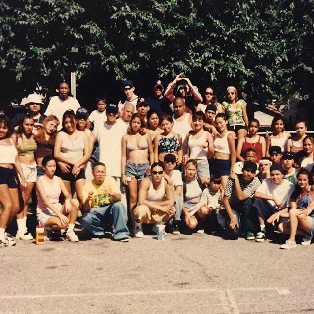 #SwingKidz crew 1995 car wash for Anthony aka Burnie/Burny #SGV (photo: @debymeza31 )
