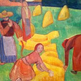 Hammer Museum - Wheat Harvest (1889) by Emile Bernard - Los Angeles, CA, United States