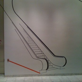 Hammer Museum - Nic Hess - Escalator on Wall - Los Angeles, CA, United States
