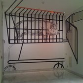 Hammer Museum - Nic Hess - Pig in Grocery Cart on Wall - Los Angeles, CA, United States