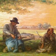 Hammer Museum - Peasants Resting (1866) by Jean Francois Millet - Los Angeles, CA, United States