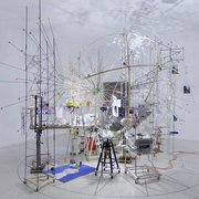 Bronx Museum of the Arts - Sarah Sze's Triple Point (Planetarium), on view at The Bronx Museum of the Arts from July 3 to August 24, 2014 - Bronx, NY, United States