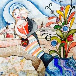 """Emily Sundblad Galleries - Hej jag heter Annelie Finne och bor i Falun. Jag har målat några """"Chagalliga"""" bilder i dalastil. Finns fler om ni är nyfikna. - New York, NY, United States"""