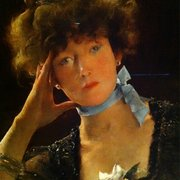 Hammer Museum - Portrait of Sarah Bernhardt (1885) by Alfred Stevens - Los Angeles, CA, United States