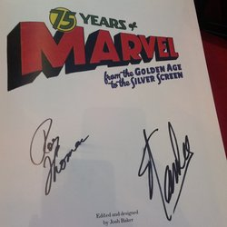 Hammer Museum - Stan Lee & Roy Thomas autographs - Los Angeles, CA, United States