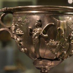 Princeton University Art Museum - Bacchic motif, silver, 1st c bc - Princeton, NJ, United States