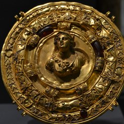 Princeton University Art Museum - breast ornament, Athena, 2nd c bc, Halmyros, Turkey - Princeton, NJ, United States