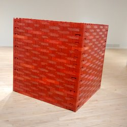 Bronx Museum of the Arts - Red Cube of 350 Coke crates - Bronx, NY, United States